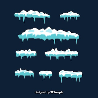 Set de capas de nieve