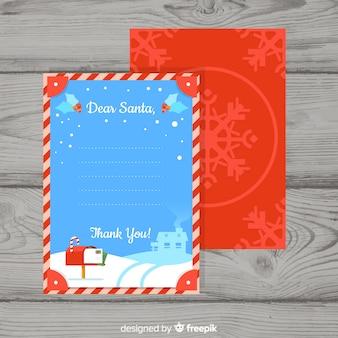 Set de carta y sobres navideños para santa claus