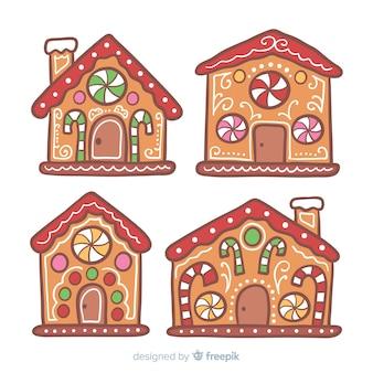 Set de casas de galleta de jengibre