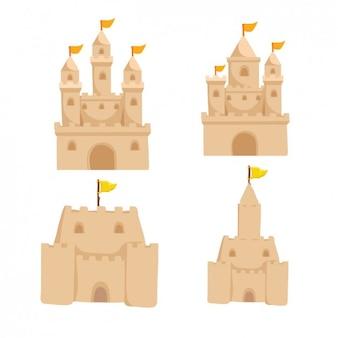 Set de castillos de arena
