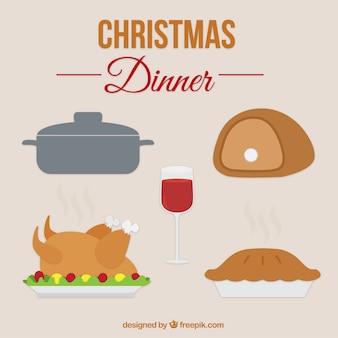 Set de cena de navidad