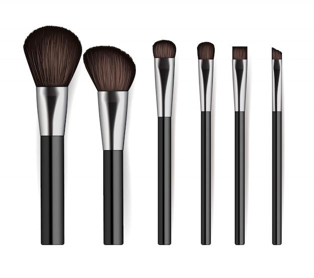 Set de cepillos de cosméticos profesionales realistas