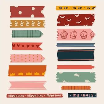 Set de cinta washi dibujada