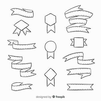 Set de cintas decorativas dibujadas