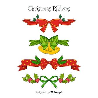 Set de cintas y lazos navideños decorativos