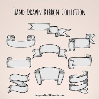 Set de cintas retro dibujadas a mano