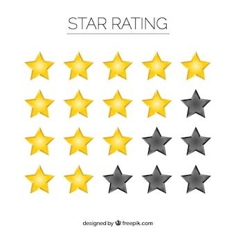 Set de clasificación de estrellas