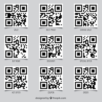 Set de códigos qr