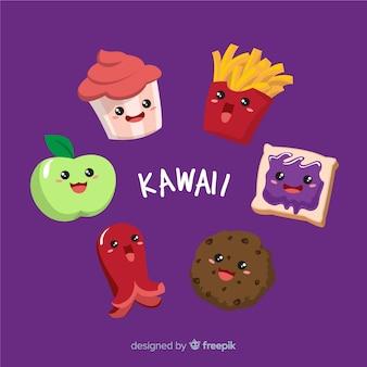 Set de comida en estilo kawaii