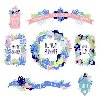 Set de composiciones florales