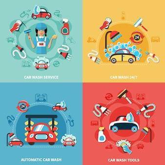 Set de composiciones de lavado de autos