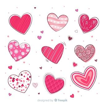 Set de corazones