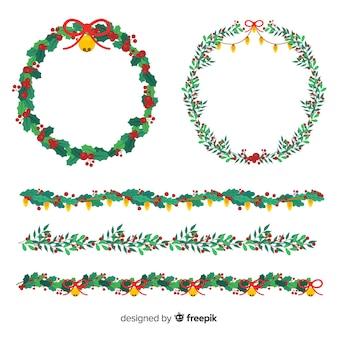 Set de coronas de navidad