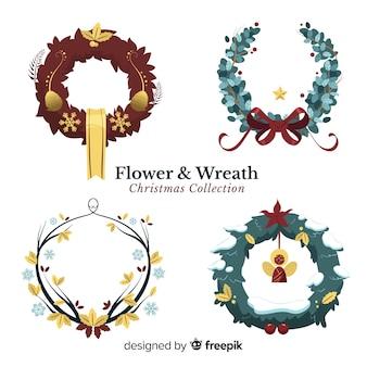 Set de coronas navideñas