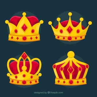 Set de coronas de la realeza