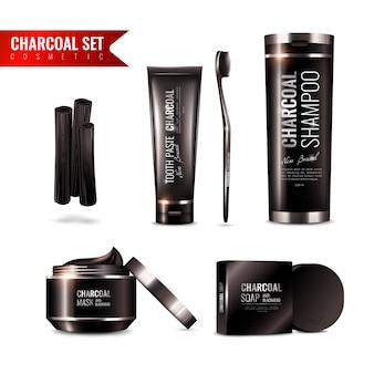 Set de cosméticos de carbón de leña