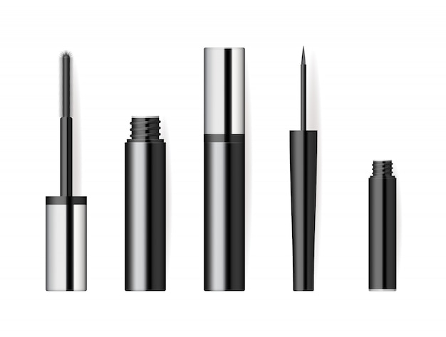 Set de cosméticos de maquillaje realista