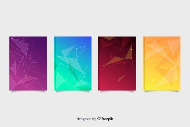 Set de covers coloridas de tecnología de estilo degradado
