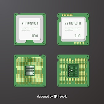 Set de cpu microchips