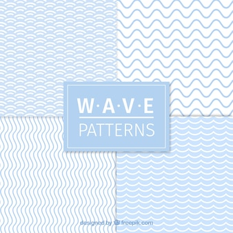 Set de cuatro patrones de olas