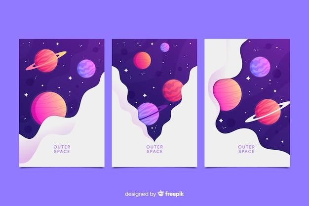 Set de cubiertas espaciales
