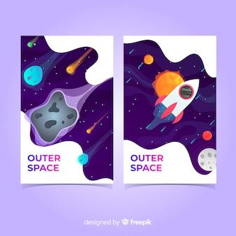 Set de cubiertas del espacio exterior