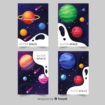 Set de cubiertas del espacio