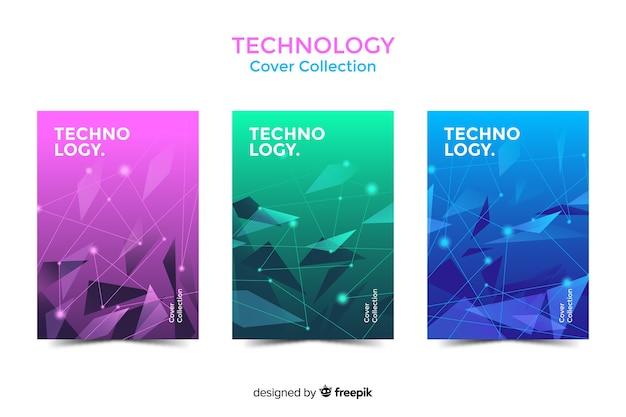 Set de cubiertas de estilo tecnológico