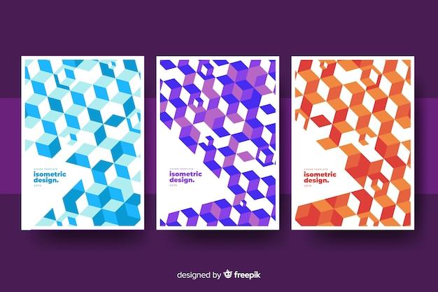 Set de cubiertas isométricas