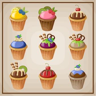 Set cupcakes.
