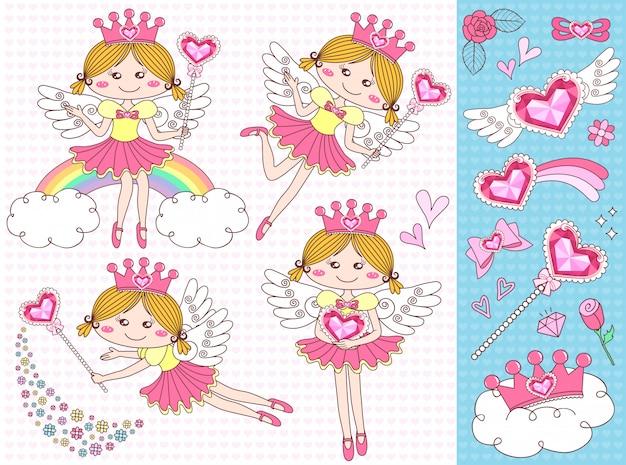 Set cupids linda chica con accesorio