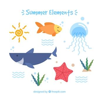 Set de animales marinos