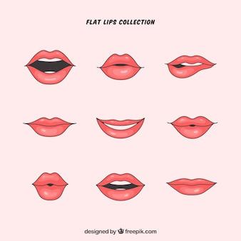 Set de bonitos labios