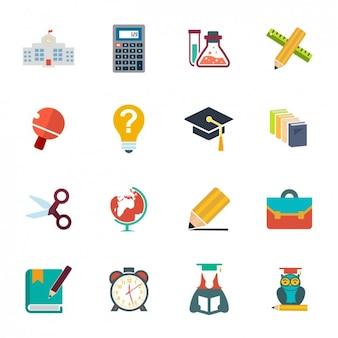 Set de iconos escolares