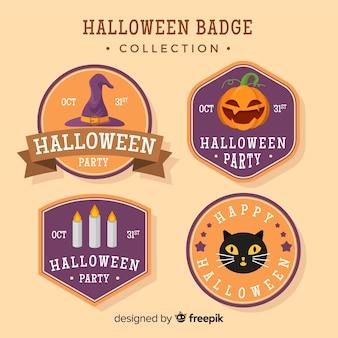 Set de insignias de halloween