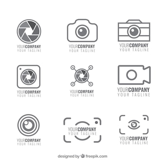 Set de logotipos de cámaras