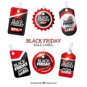 Set de pegatinas de black friday
