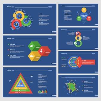 Set de plantillas de diapositivas de siete estadísticos