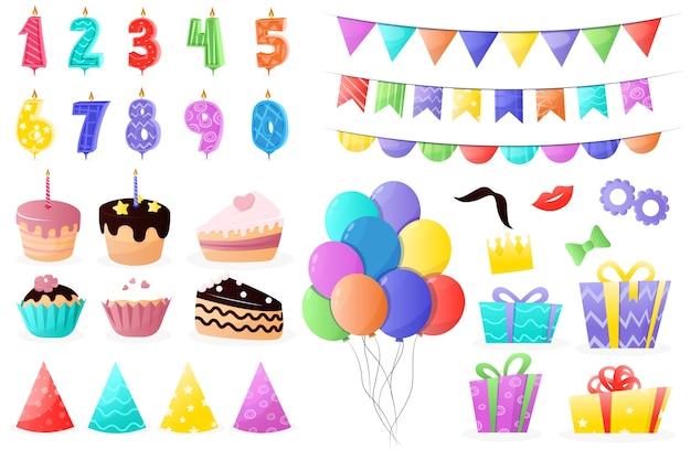 Set de decoración de cumpleaños de dibujos animados