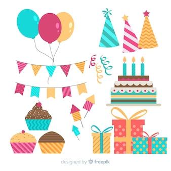 Set decoración fiesta plano