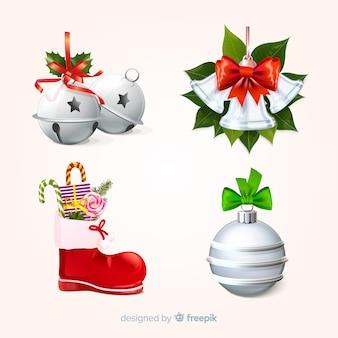 Set de decoracion navideña