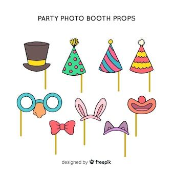 Set de decoraciones para fotomatón en fiestas