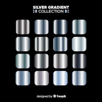 Set degradado plateado textura metálica