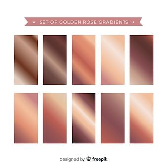 Set de degradados oro rosa