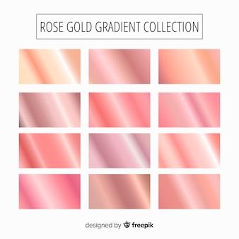 Set de degradados de rosa dorado