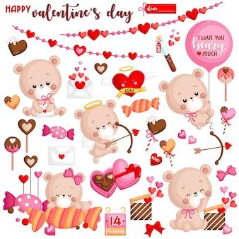 Set de dia de san valentin