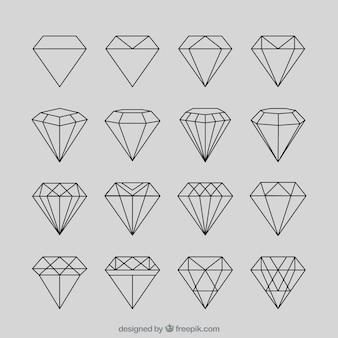 Set de diamantes geométricos