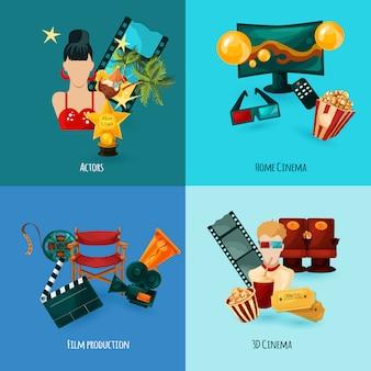 Set de dibujos animados de cine