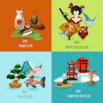 Set de diseño de japón