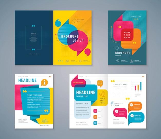 Set de diseño de libro de tapa